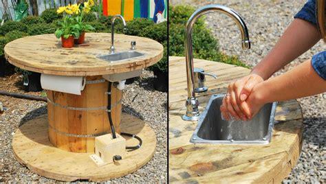 rullo giardino fai da te fai da te con bobine di legno 30 idee per il riciclo
