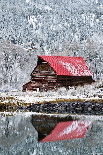 The Old Barn Underwood Barn Amp First Snow Fall Barns Pinterest Lakes An