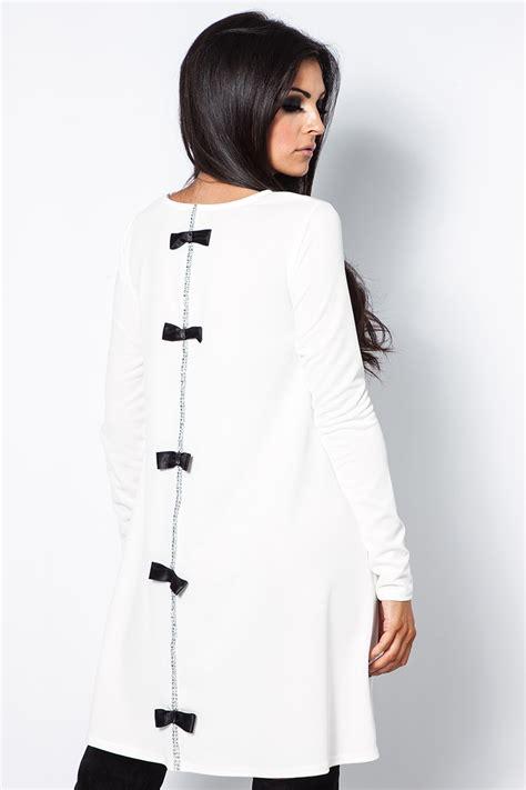 swing bow sammi white diamante bow swing dress at misspap co uk