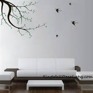 bird wall art stickers decals wall stickers branches with flying birds wall art