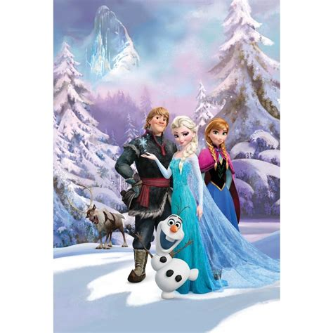3d animation frozen aisha princess home decor wall disney frozen anna elsa olaf sven bedroom mural wallpaper