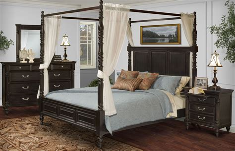 black canopy bedroom sets martinique rubbed black canopy bedroom set with drapes