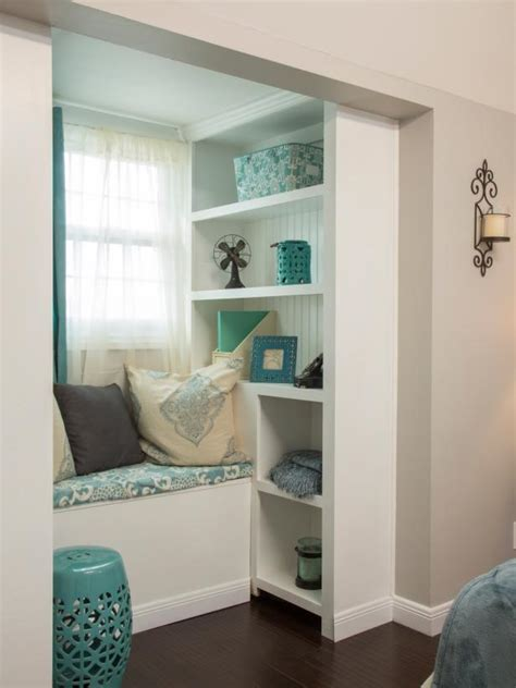 window seat flanked by bookcases photo page hgtv