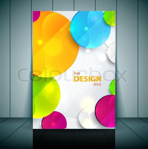 Colorful 3d Circles Business Flyer Template Vector Design Stock Vector Colourbox Flyer Templates Vector