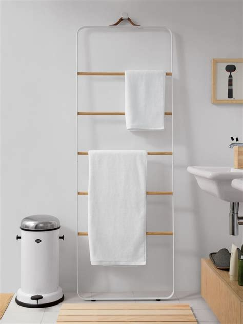 ladder for bathroom new bath hardware from norm architects the towel ladder