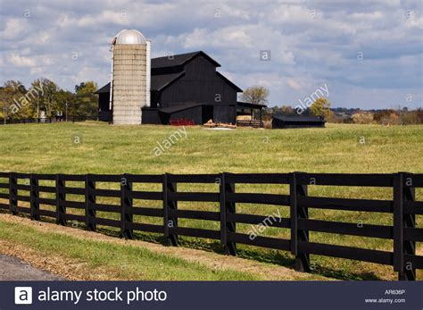 lincoln county kentucky black barn and fence with silo lincoln county kentucky