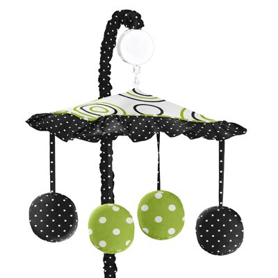 Black Crib Mobile by Spirodot Lime And Black Musical Baby Crib Mobile By Sweet