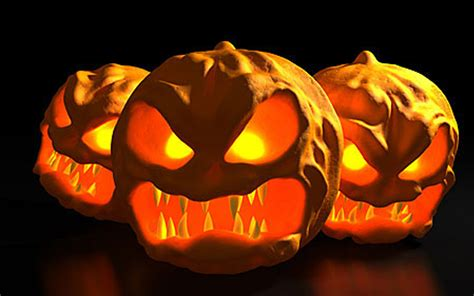 scary fangs halloween pumpkin carving creative ads and more
