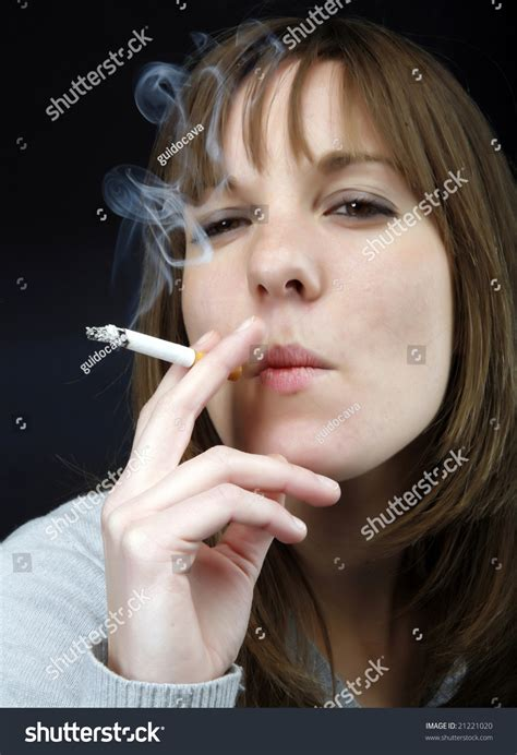 Young Girl Smoking Cigarette Stock Photos Images | young girls smoking images usseek com