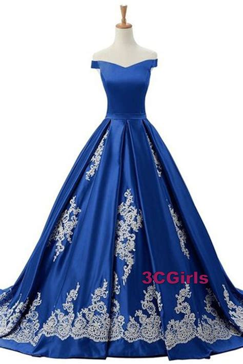 navy blue ball gown prom dress vintage prom dress off shoulder ball gown beautiful navy