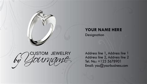 jewellery business card templates psd jewelry business card photoshop templates