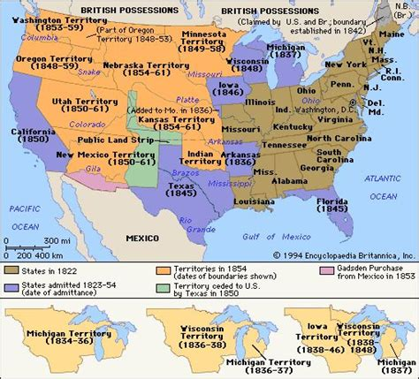 map of expansion of united states map of the expansion of the united states 1822 1854 maps