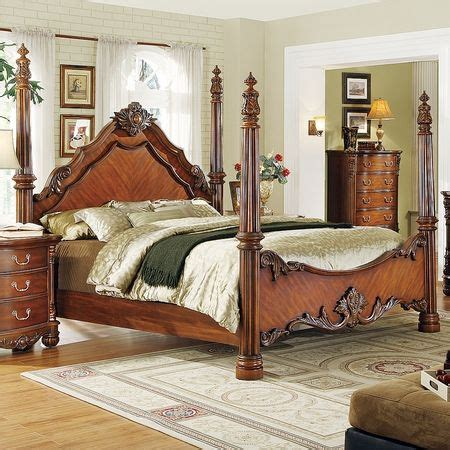 traditional  poster bedroom sets  traditional formal cherry queen king poster bed