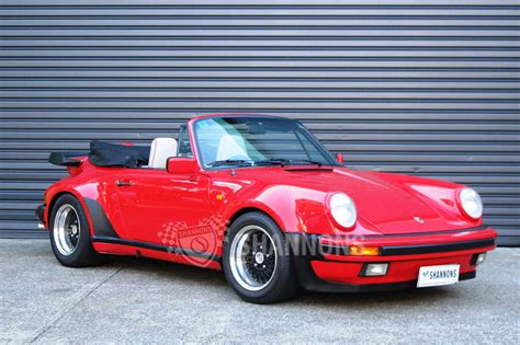convertible porsche sold porsche 911 3 2 convertible auctions lot