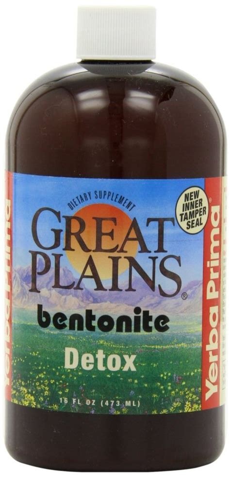 Bentonite Liquid Detox by Yerba Prima Psyllium Whole Husks 12 Ounce