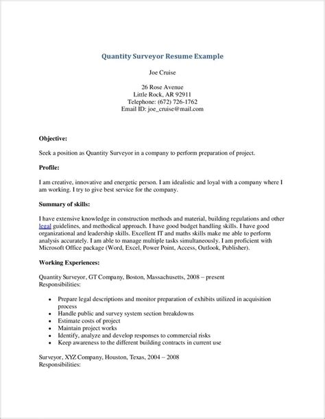 cover letter for quantity surveyor cover letter for resume quantity surveyor page
