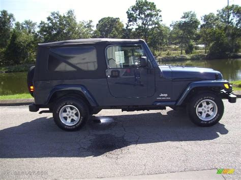 2006 Jeep Unlimited 2006 Midnight Blue Pearl Jeep Wrangler Unlimited 4x4