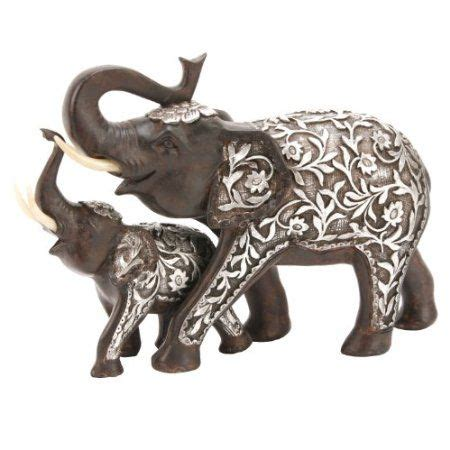 elephant figurines 25cm mother and baby elephant