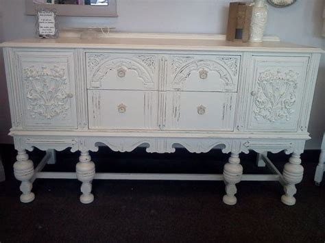 Antique Shabby Chic Vintage Buffet Server Sideboard Tv Shabby Chic Buffet