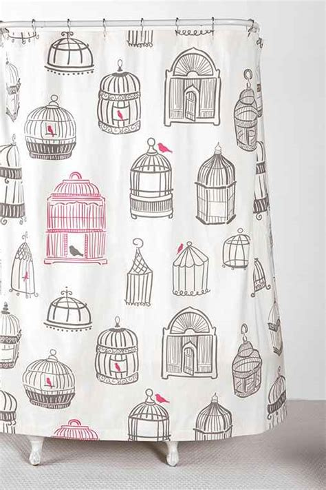birdcage shower curtain birdcage shower curtain urban outfitters