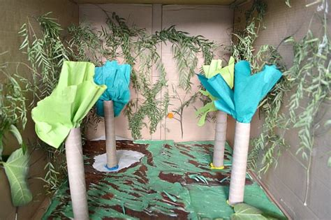 How To Make Rainforest Trees Out Of Paper - small world play rainforest in a box littles