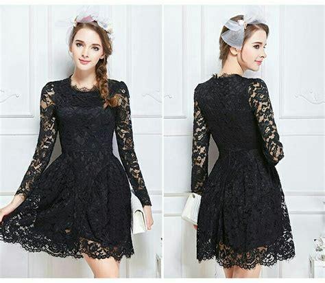 Inner Dress Hitam 21255 dress brokat hitam lengan panjang rp 260 000