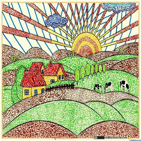 imagenes para dibujar y pintar con tempera 15 dibujos de paisajes coloreados