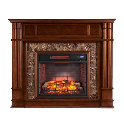 electric fireplace rochester ny southern enterprises rochester 48 in w faux