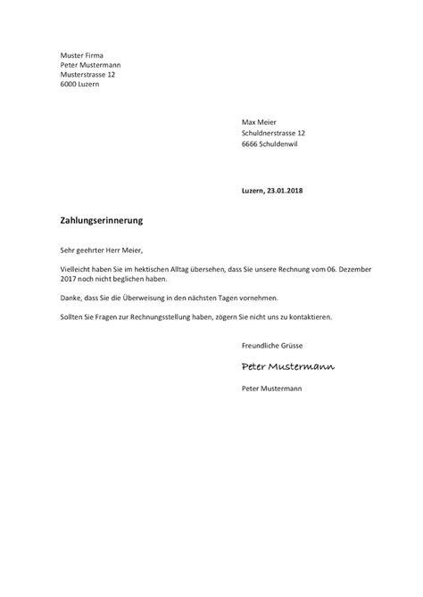 Schriftliche Mahnung Muster mahnung vorlage schweiz word format muster vorlage ch