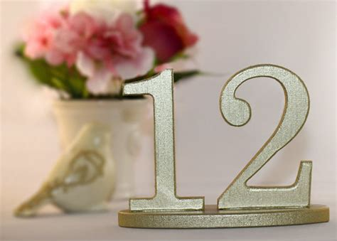 Wooden Table Numbers Wedding by Table Numbers Gold Wooden Table Numbers Set For Weddings On