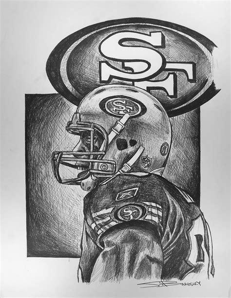 49ers Sketches by Bardsley Sports Vernon Davis 2012