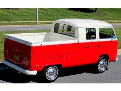 purchase  vw microbus crew cab pickup rotisserie restoration rebuilt cc vw engile