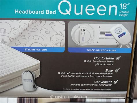 aerobed with headboard costco aerobed headboard queen bed