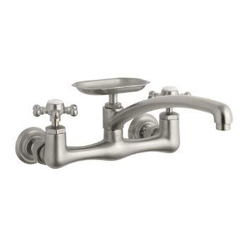 kohler k 159 3 antique wall mount kitchen sink faucet kohler k 159 3 bn antique wall mount kitchen faucet w 12