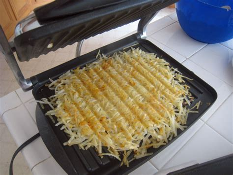 Toaster Grill Tips For Preparing A Full Breakfast Panini Press Hashbrowns