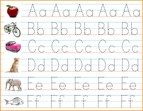 Letter A B C abc worksheets handwriting worksheet exle