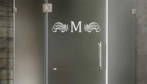 Shower Door Vinyl Monogram Shower Door Vinyl Sticker On Etsy 6 00 Vinyl Pinterest Vinyls Monograms And Etsy