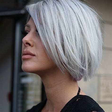 gray hair bob haircuts best 25 short silver hair ideas on pinterest silver