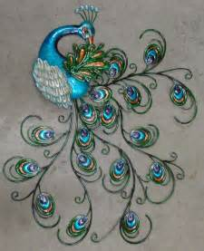 pretty peacock wall decor 30 quot hanging metal sculpture