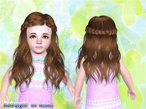 the sims resource kids hair skysims hair 186