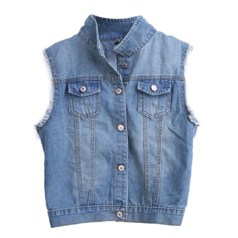 Vest Cardigan Denim fashion frayed cardigan denim vest jean waistcoat jacket outerwear ebay
