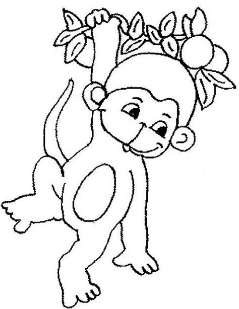 small monkey coloring page disegni da colorare per bambini scimmia disegni da
