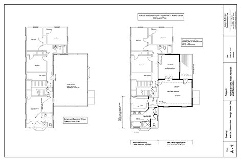 house plan partial second floor home addition maryland