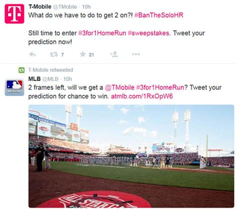 T Mobile Sweepstakes - all star game sponsored by t mobile includes a twitter promotion american sweepstakes