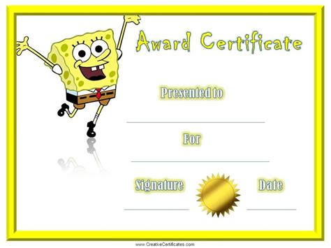 certificate template for children certificate of appreciation customize print at home