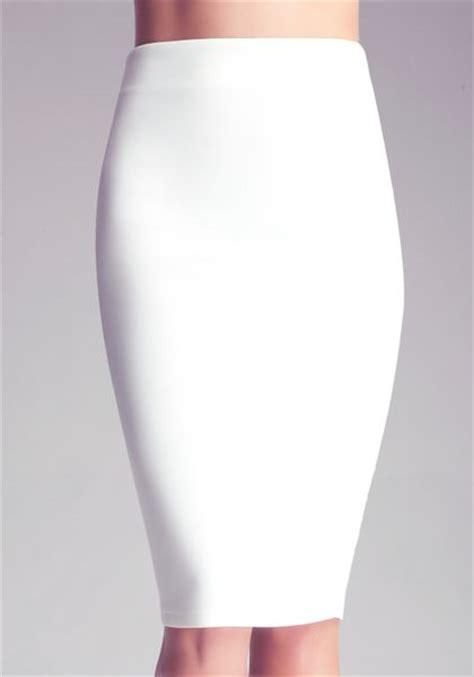 white knit skirt bebe midi knit skirt in white lyst