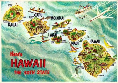 printable hawaiian postcards online maps hawaii postcard maps