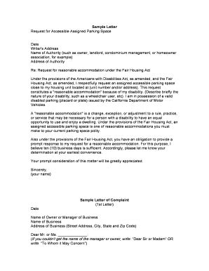 Sle Letter Rent Parking Space Request Letter For Providing Accommodation Assistant