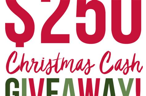 Christmas Cash Giveaway - blog the caterpillar years
