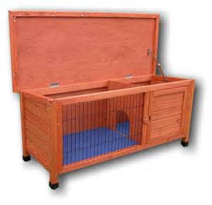Plywood Rabbit Hutch Rabbit Hutch Deluxe Hutch With Hinged Lid